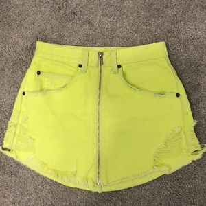 LF Carmar Denim Neon Beatrice Skirt